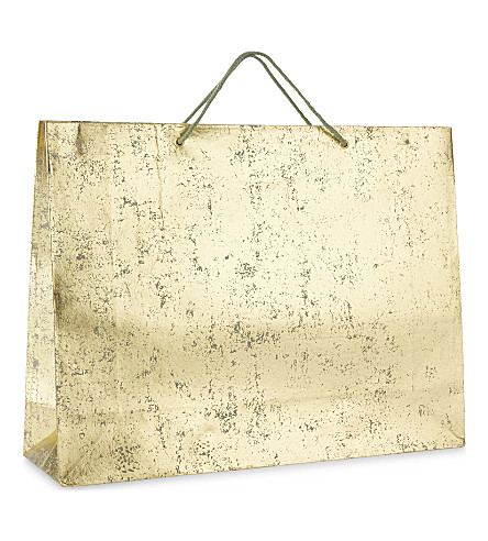 VIVID WRAP Crushed foil medium gift bag 38cm