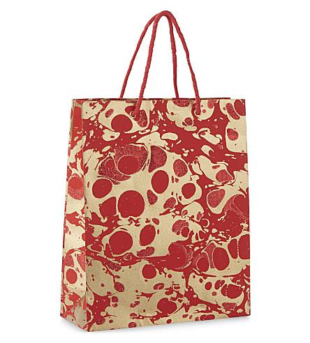 VIVID WRAP Glitter marble medium gift bag