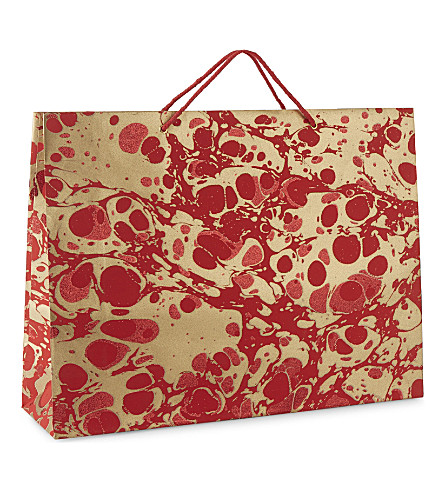 VIVID WRAP Extra-large metallic marble gift bag