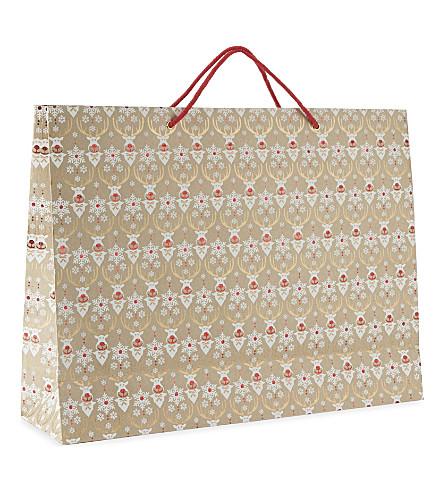VIVID WRAP Rudolph glitter extra large gift bag 38cm