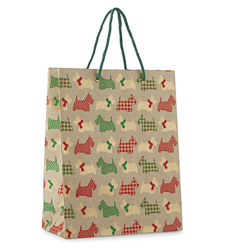 VIVID WRAP Scottie dog large gift bag 31cm