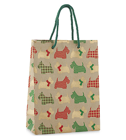 VIVID WRAP Scottie dog medium gift bag 24.5cm