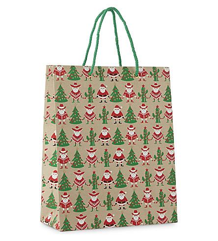 VIVID WRAP Mexican Santa large gift bag 31cm