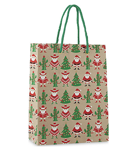 VIVID WRAP Mexican Santa medium gift bag 24.5cm