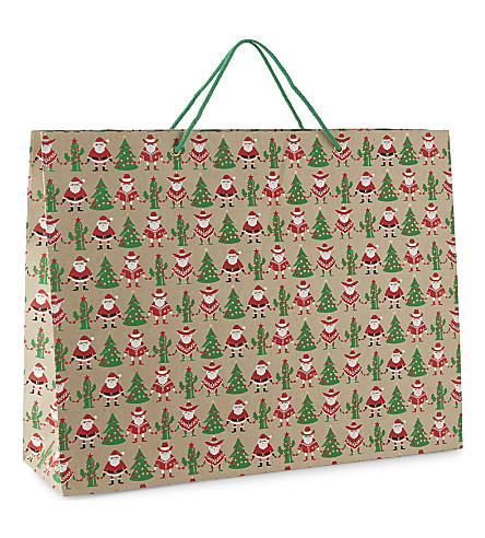 VIVID WRAP Mexican Santa extra large gift bag 38cm