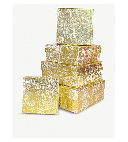 VIVID WRAP Crushed foil square gift box