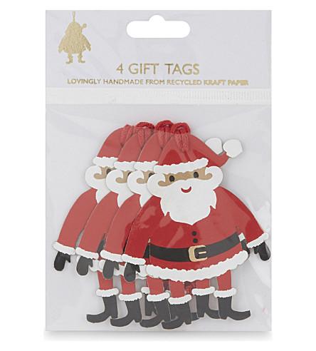VIVID WRAP Santa gift tags set of four