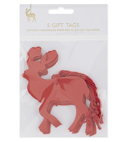VIVID WRAP Reindeer gift tags set of 5