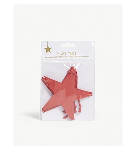 VIVID WRAP Star gift tag set of five