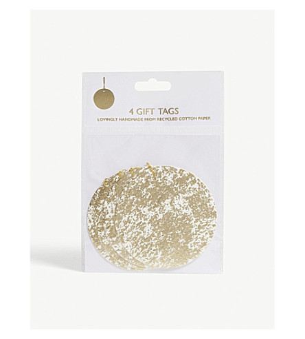 VIVID WRAP Gift tags pack of four 8cm
