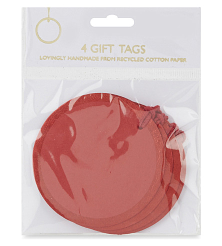 VIVID WRAP Round foil gift tags set of 4