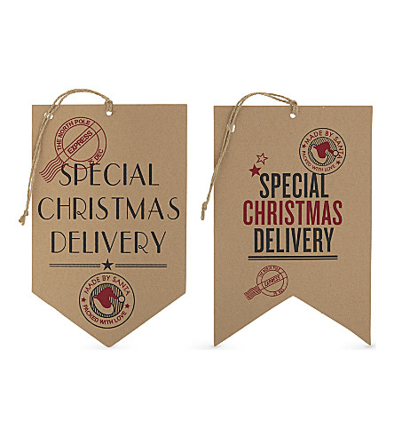 VIVID WRAP Special Christmas delivery gift tags pack of two
