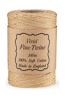 VIVID WRAP Gold-flecked twine 100m