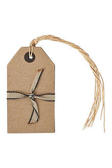 CHRISTMAS Pack of six Kraft Paper large gift tags