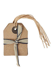 CHRISTMAS Pack of six Kraft Paper small gift tags