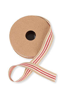 CHRISTMAS Beige and cream striped ribbon