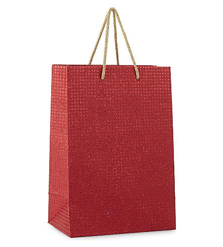 GLOBAL ENTERPRISE Small metallic squares gift bag