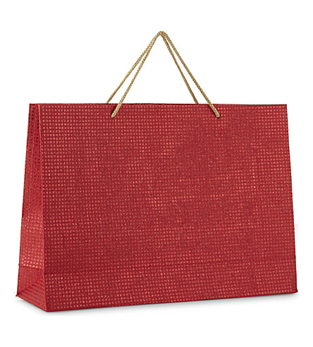GLOBAL ENTERPRISE Metallic squares gift bag