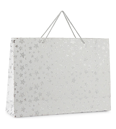 GLOBAL ENTERPRISE Metallic stars gift bag