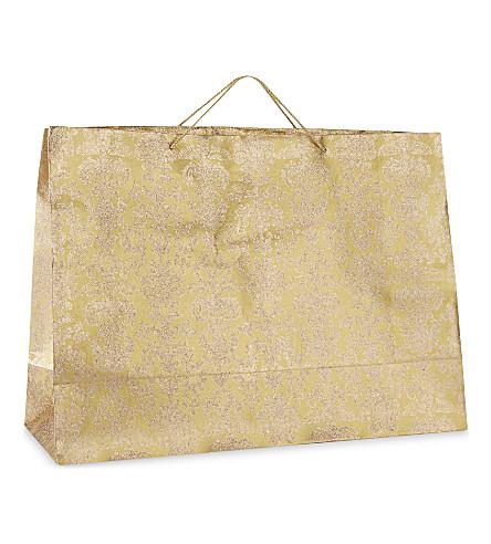 GLOBAL ENTERPRISE Damask glitter extra large gift bag 40.5cm