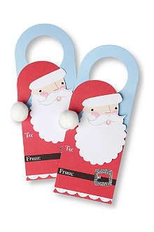 MERI MERI Set of four Santa wine tags