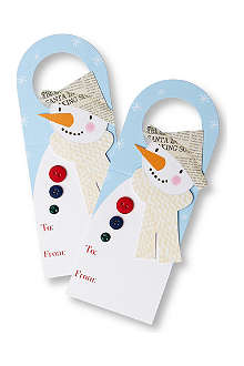 MERI MERI Set of four snowman wine tags