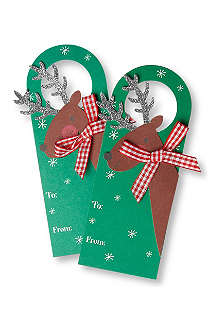 MERI MERI Set of four reindeer wine tags