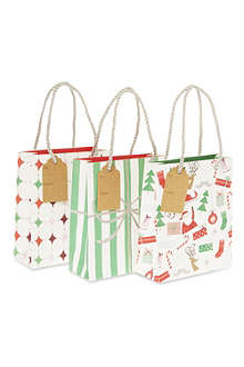 MERI MERI Pack of three Jingle All the Way gift bags