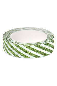 MERI MERI All Wrapped Up green striped sticky tape