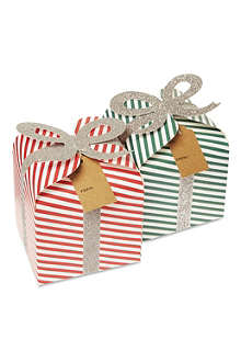 MERI MERI Pack of four Jingle all the Way gift boxes