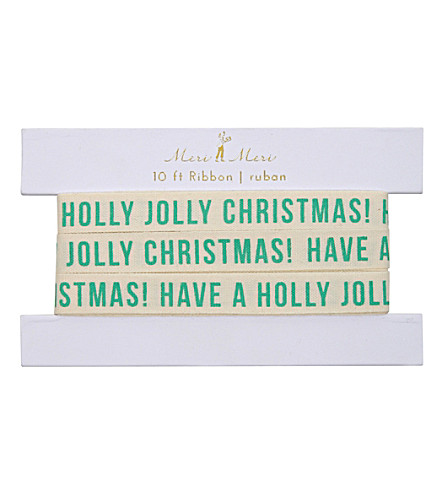 MERI MERI Jolly christmas gift ribbon 10ft