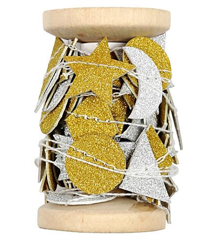 MERI MERI Silver & gold shape garland 4.5m