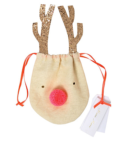 MERI MERI Reindeer drawstring gift pouch