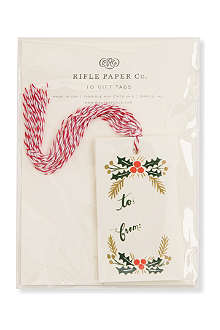 CHRISTMAS Pack of 10 Garland gift tags