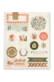 CHRISTMAS Holiday Wonderland stickers and labels