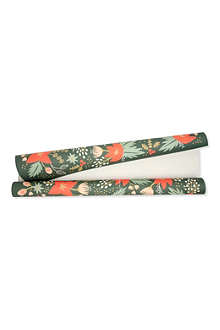CHRISTMAS Holiday Greens gift wrap roll
