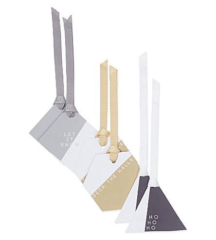 ABIGAIL WARNER Geometric gift tags set of 6