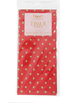 CASPARI Tissue paper dots red green