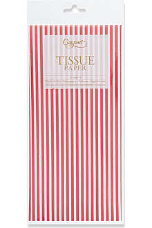 CASPARI Red striped tissue paper