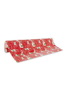 CASPARI Christmas city wrapping paper