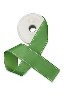 CASPARI Green grosgrain wired ribbon 8.2m