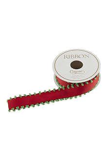CASPARI Red pom-pom ribbon