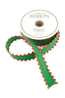 CASPARI Green pom-pom ribbon