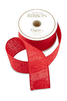 CASPARI Red linen ribbon