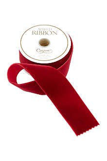 CASPARI Red velvet ribbon