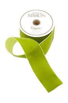 CASPARI Moss green velvet ribbon