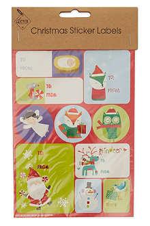 DEVA DESIGNS Christmas sticker labels three sheet set