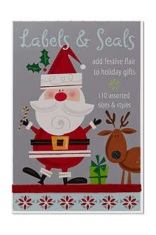 CHRISTMAS Labels and seals sticker book