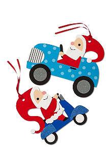 DEVA DESIGNS Jumbo Santa Claus gift tags