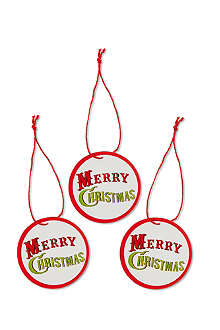 CHRISTMAS Pack of 10 round Merry Christmas tags